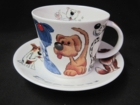 Roy Kirkham Dogz Cup and Saucer - Set of 2 - LIMITED QUANTITIES
