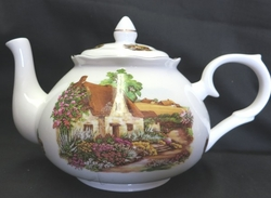 Rural Scenes Bone China Teapot
