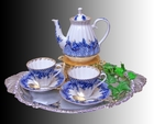 Russian Imperial Peocock - Tea for Two Set