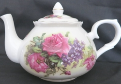 Sando Pink Rose Bone China Teapot