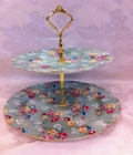 Shabby Rose 2 Tier Stand