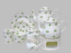Shamrock Bone China Tea Set