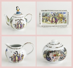Snow White Tea Set by Paul Cardew