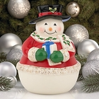 Snowman Cookie Jar by Lenox