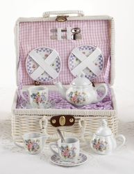 Sophia's Purple Bouquet Porcelain Tea Set