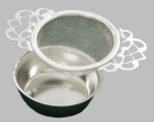 Stainless Tea Strainer with Bowl - Set of 4
