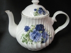 Summertime Blue 4 Cup Bone China Teapot