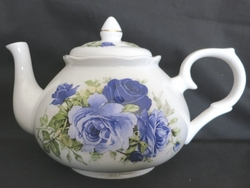 Summertime Blue Rose Bone China Teapot - 6 Cup