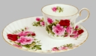 Summertime Rose Hostess Plate - 1 Set