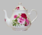 Heirloom China - Summertime Rose Teapot 6 Cup