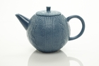 Sweater Knit Blue Teapot