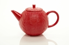 Sweater Knit Red Teapot