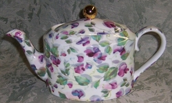 Sweet Pea Chintz Teapot By Royale Garden -