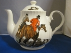 Swirled Hunting Tea Pot - 6 Cup