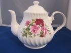 Swirled Summertime Pink Teapot - 4 Cup
