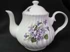 Swirled Wild Violets Teapot - 4 cups