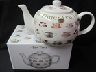 Tea Time Teapot - Fine Bone China