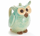 Teal Green Owl Teapot