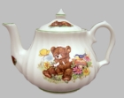 """Teddy's Tea Party"" Bone China Teapot"