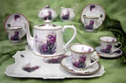 Tennessee Purple Iris Porcelain Tea Set