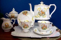 """The Easter Bunny"" Porcelain Tea Set for Two"