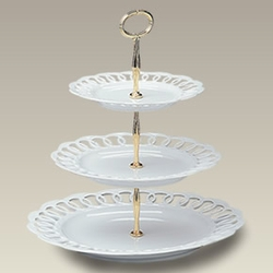 Three (3) Tiered Tidbit Tray