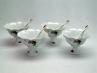 Victorian Rose Ice Cream Cups - Set of 4