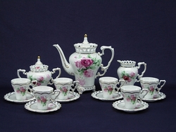 Victorian Rose Porcelain Tea/Coffee Set