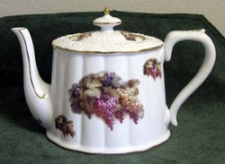 Vineyard Grapes Royal Porcelain Teapot   SHAPE