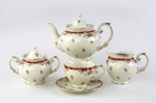 Vintage Rose Bud Tea Set  for 4