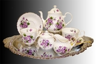 Violet English Bone China Tea For Two Set