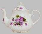 Violets 6 Cup Bone China Teapot