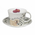 """Walkies"" Breakfast Cup & Saucer - 2 Sets"