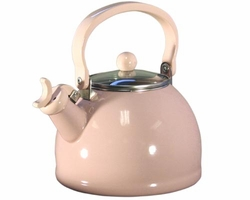 Whistling Solid Color Tea Kettle - Pink