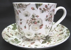 White Rose Chintz Breakfast Tea Cups - Set of 2