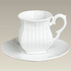 White Square Tea Cups - Set of 4