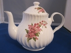 Pink Swirled Bone China Teapot - 4 Cups
