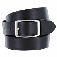 "0021409 Full Leather Work Uniform Belt 1-1/4"" Wide - Black"