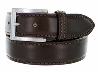 S029 Men's Italian Leather Dress Casual Belt Made in Italy - T.Moro(Dark Brown)
