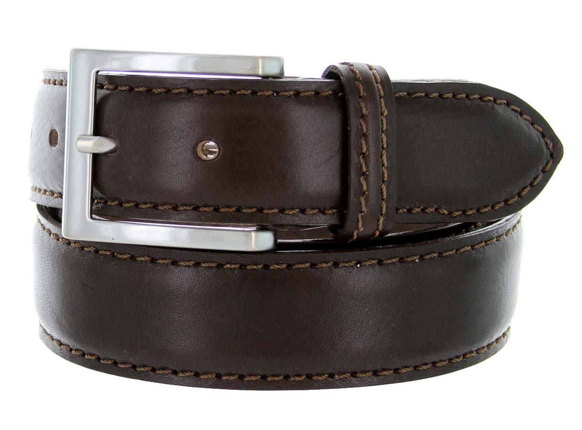 s029 35 s italian leather dress casual belt 1 3 8