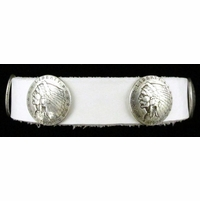 0703 White Full Grain Genuine Italian Saddle Leather with Coin Conchos