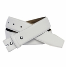 """1 1/2"""" Wide White Smooth Leather Belt Strap"""