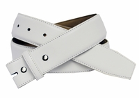 "1 1/2"" Wide White Smooth Leather Belt Strap"