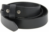"BS100 Genuine Leather Belt Strap 1-1/4"" - Black"