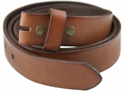 "1 1/4"" BS100 Genuine Leather Belt Strap-Brown"