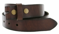 "1 1/4"" BS100 Genuine Leather Belt Strap - Dark Brown"