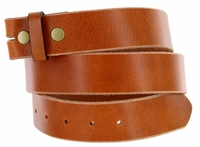 "100% Full Leather Belt Strap 1-1/2"" (38mm) Wide - Tan"