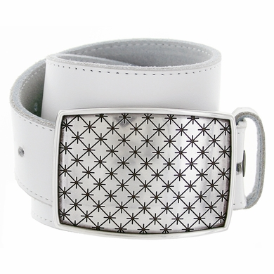 Silver Buckle Casual Jean Leather Belt 100129