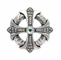 Crystal AB Rhinestone Cross Celtic Belt Buckle
