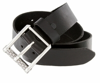 "100409 Men's Genuine Full Leather Biker Casual Jean Belt 1-1/2"" wide"